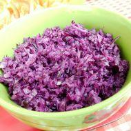 Jednoduchý salát z červeného zelí recept