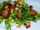 Lehký salát s pečeným masem recept