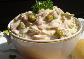 Domácí pochoutkový salát  téměř retro recept