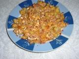 Bramborový knedlík s vejcem a uzeným recept