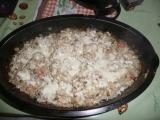 Zapečené houbové rizoto s kuřecím masem recept