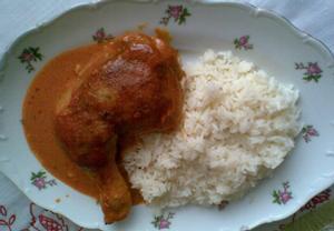 Šťavnaté kari kuře