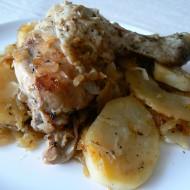 Kuře s bramborem na zelí recept