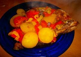 Oběd z jednoho pytlíku (Kuře,brambory a zelenina z alobalu) recept ...