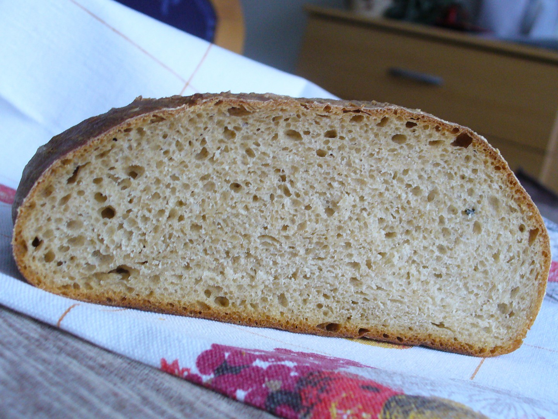 Pšenično  žitný kváskový chléb recept