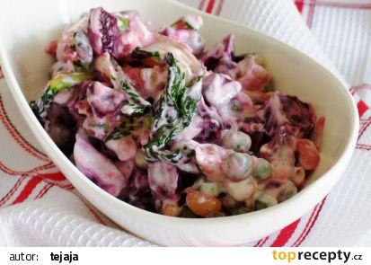 Sójový salát s červenou řepou recept