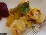 Zapečené brambory s cuketou a paprikami recept