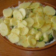 Brambory zapečené s brokolicí a květákem recept
