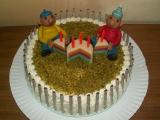 Tříbarevný dort s mascarpone krémem (Pat a Mat) recept ...