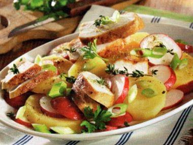 Bramborový salát s kuřetem