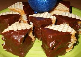 Kokosové kostky v dortových oplatcích recept