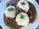 Drůbeží játra na cibulce s rýží recept