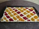 Piškot s krémem a ovocem recept