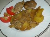Smetanové maso s houbami recept