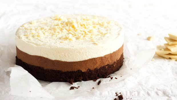 Trojitý čokoládový pěnový dort