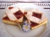 Mřížkový koláč s tvarohem recept