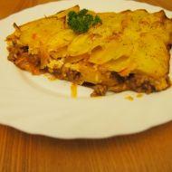 Zapečené brambory s pikantním mletým masem recept