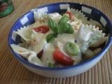 Těstovinový salát s krevetami recept