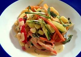 Letní bramborový salát z woku recept