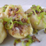 Bramborové knedlíky se šunkou recept
