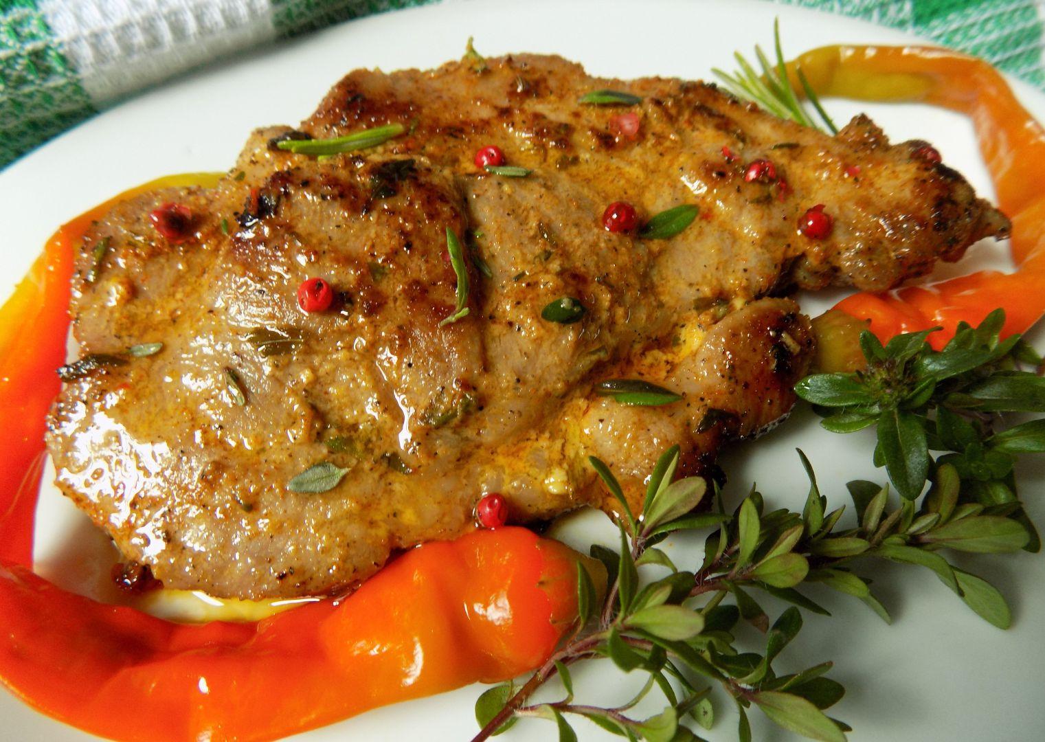Pikantní krkovička v bylinkové hořčici recept