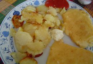 Smažený sýr s anglickou slaninou