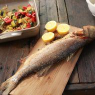 Mořský vlk s grilovanou zeleninou recept
