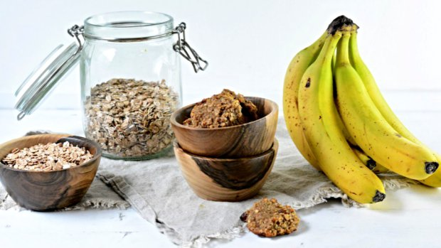 Ovesné sušenky s banánem