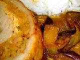 Vepřová pečená roláda na houbách recept
