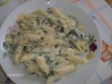 Sýrová omáčka s listovým špenátem a kuřecím masem recept ...
