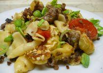 Špagety s houbami a mořskými plody recept