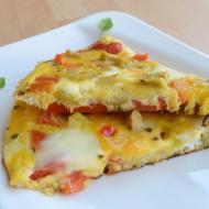 Vaječná omeleta s paprikou a olivami recept