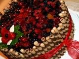Velký ovocný dort recept