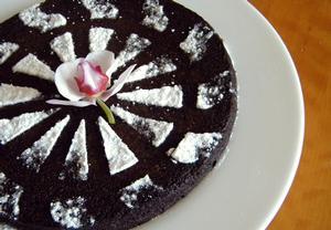 Zdravý brownies dort