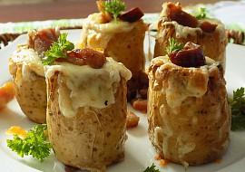 Bramborové soudky se sýrem a slaninou recept