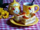 Kynutý koláč s jablky a pudinkem recept