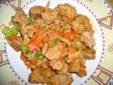 Kuřecí maso se zeleninou a sójovou omáčkou recept