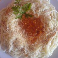 Boloňské špagety po domácku recept