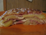 Zapečené brambory se sýrem, pórkem, šunkou a krkovičkou recept ...