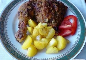 Strouhanková kuřecí stehýnka
