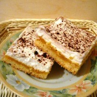 Jablečný koláč s pomerančovým krémem recept