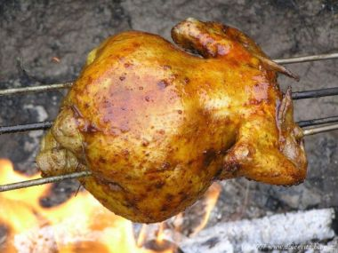 Kuře na rožni