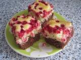Dvoubarevný rybízový koláč recept