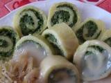 Rolky z bramborového těsta se špenátem recept