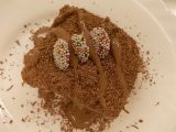 Dort s čoko-bebe podkladem a čokoládovým krémem recept ...