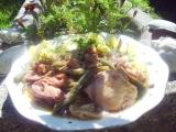 Kuřecí maso na zelených fazolkách, houbách a kopru recept ...