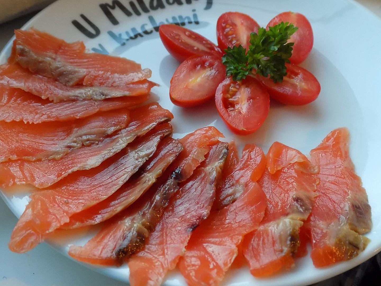 Pstruh lososovitý jako studená pochoutka recept