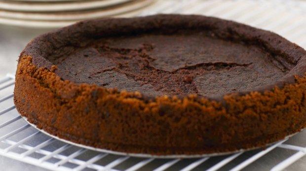 Teplý čokoládový cheesecake