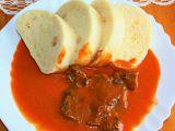Rajská omáčka s hovězí kližkou a knedlíkem recept