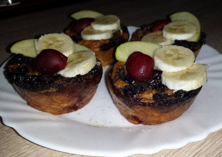 Třešňovo-borůvkové mufiny ke snídani recept